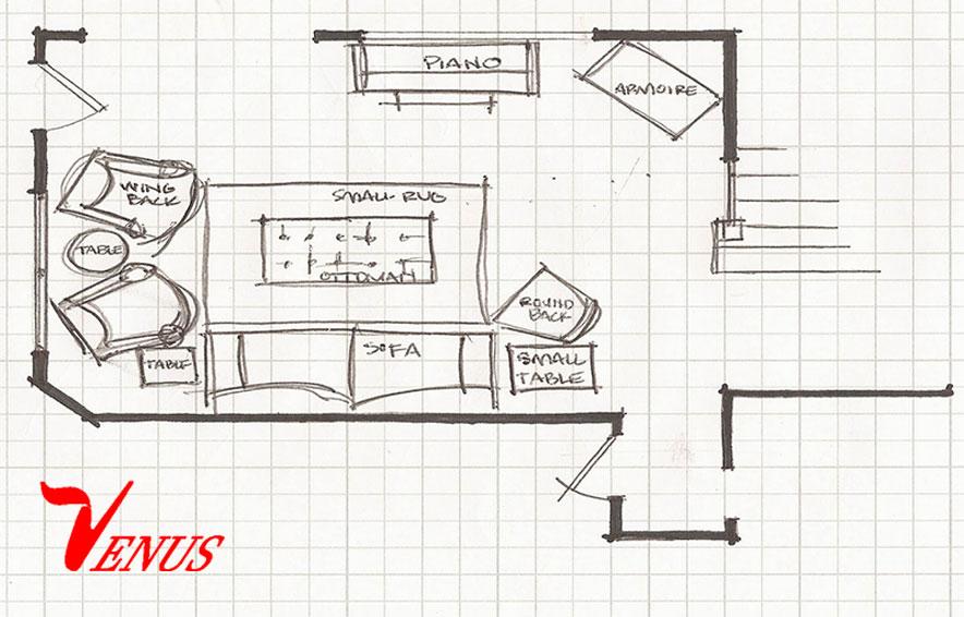 اندازه گیری وسایل خانه برای چیدن مبلمان