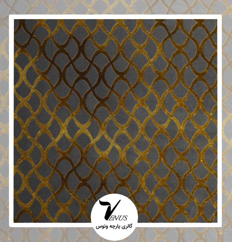 پارچه مبلی ترک اویپک | طرح گائودی رنگ طلائی