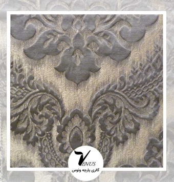 پارچه مبلی ترک اویپک | طرح ولنتاین رنگ بژ سدری