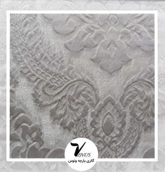 پارچه مبلی ترک اویپک | رنگ طوسی (خاکستری) طرح ولنتاین