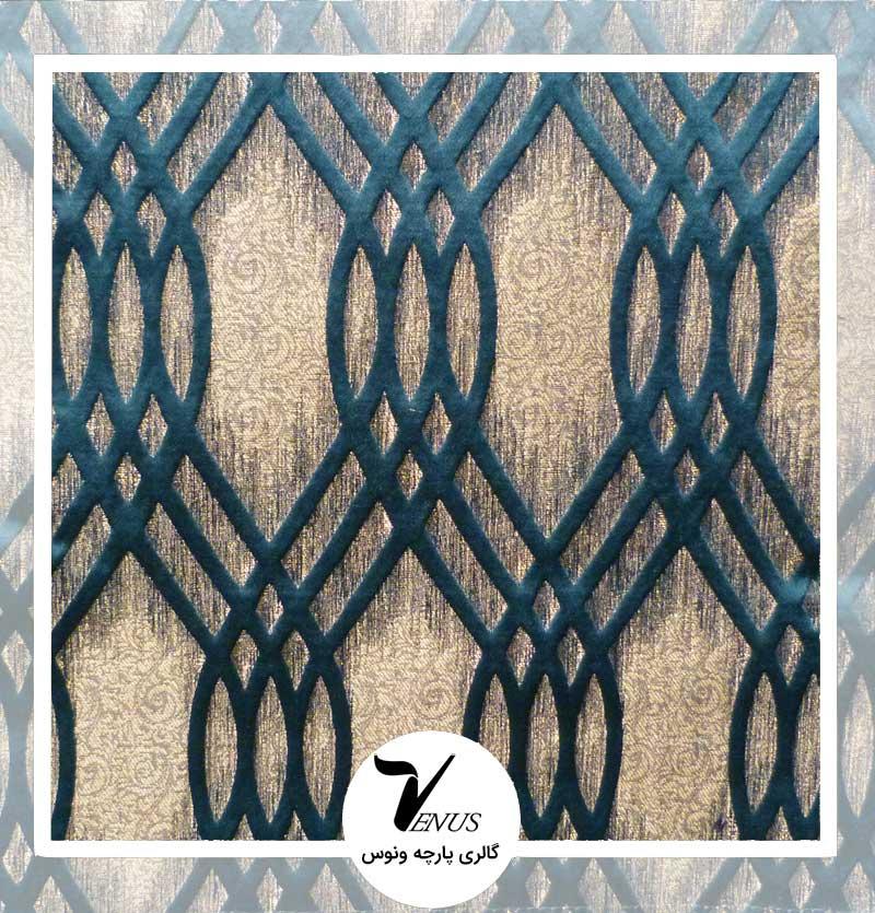 پارچه مبلی ترک اویپک | طرح ولنتاین رنگ سبز تیره