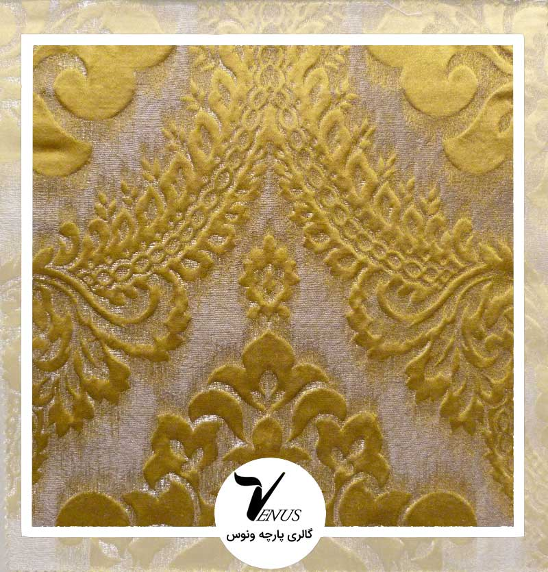 پارچه مبلی ترک اویپک | طرح ولنتاین رنگ طلایی
