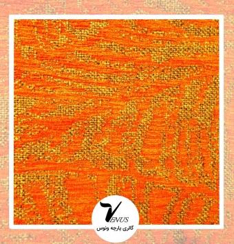 پارچه مبلی اویپک| طرح بتا | رنگ قهوه ای-کرمی-قرمز-زرد