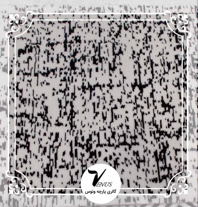 پارچه مبلی ترک اویپک طرح مایا رنگ سفید مشکی طرح 8