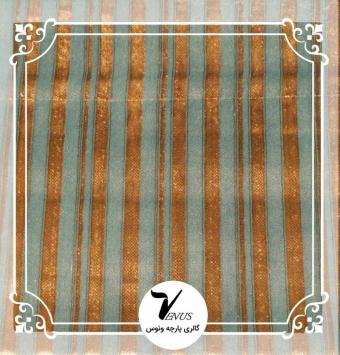 پارچه مبلی ترک اویپک طرح مایا رنگ سبز آبی طلایی طرح1