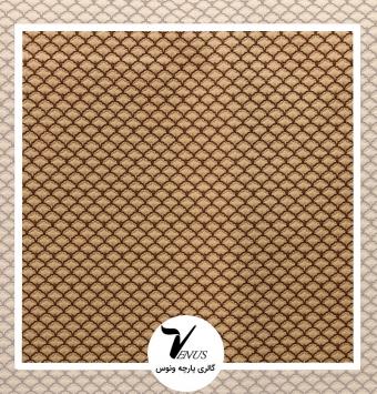 پارچه مبلی ترک شانل تافته لیس| کد L193.2201 | رنگ طلایی