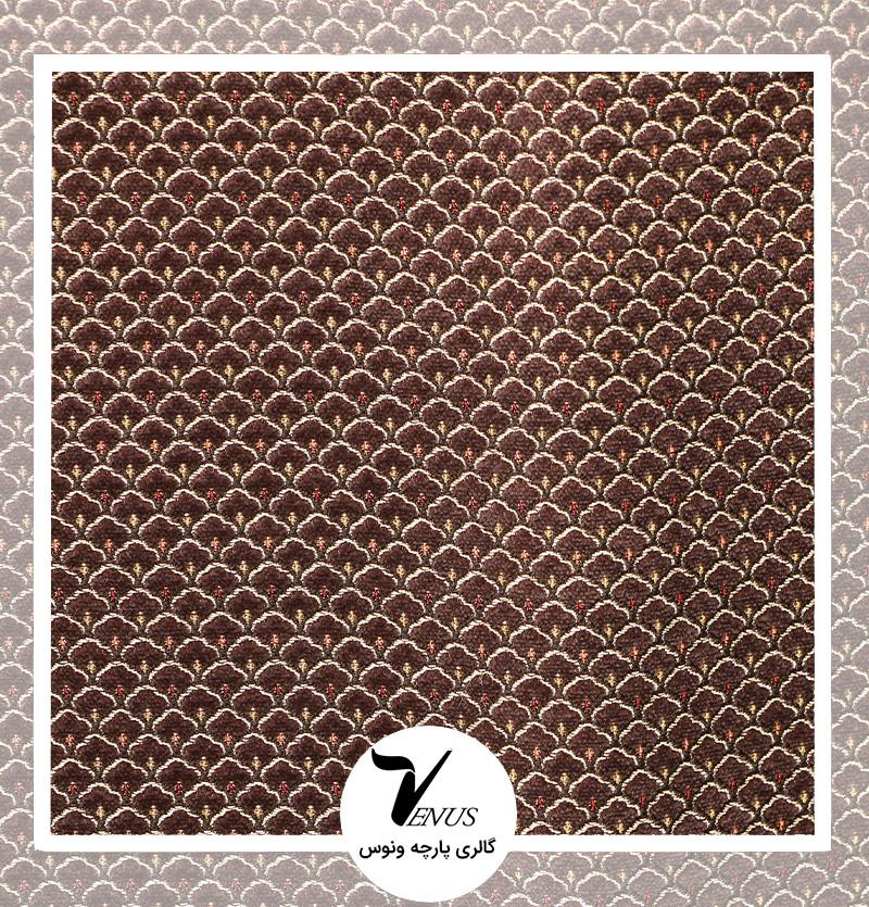 پارچه مبلی ترک شانل تافته لیس| کد L193.17501 | رنگ قهوه ای