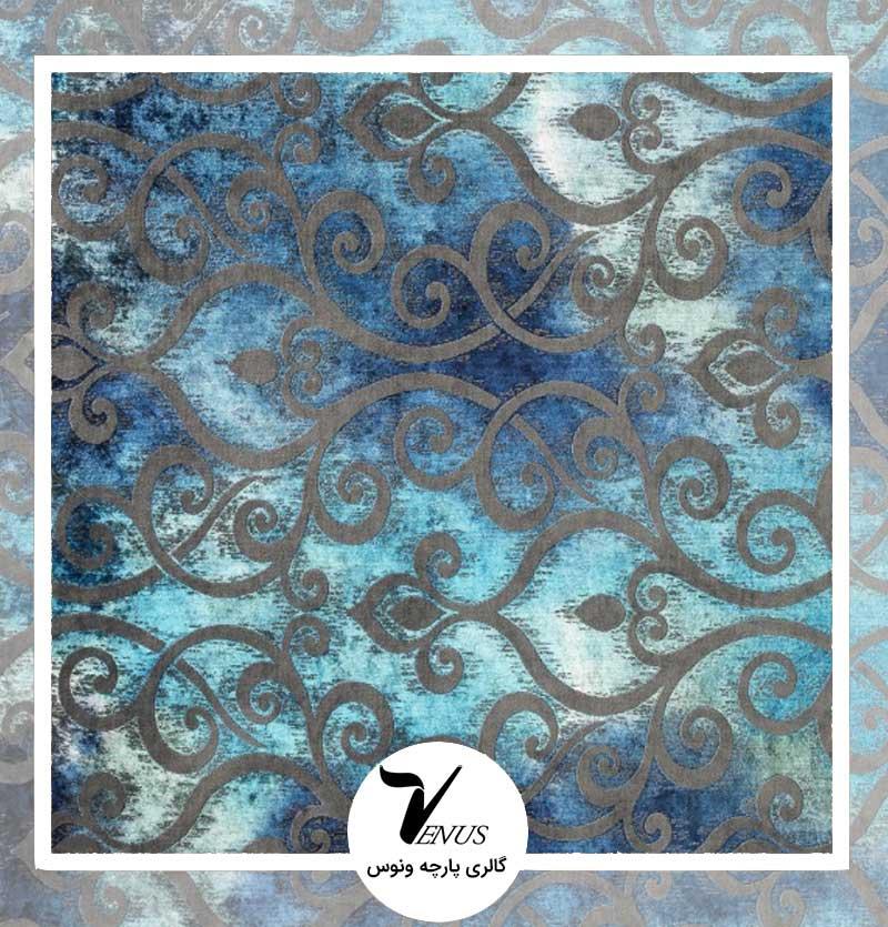 پارچه مبل | گائودی آبی طرح شماره 5