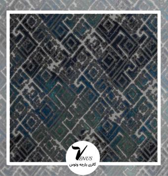 پارچه مبل | گائودی آبی طرح شماره 8