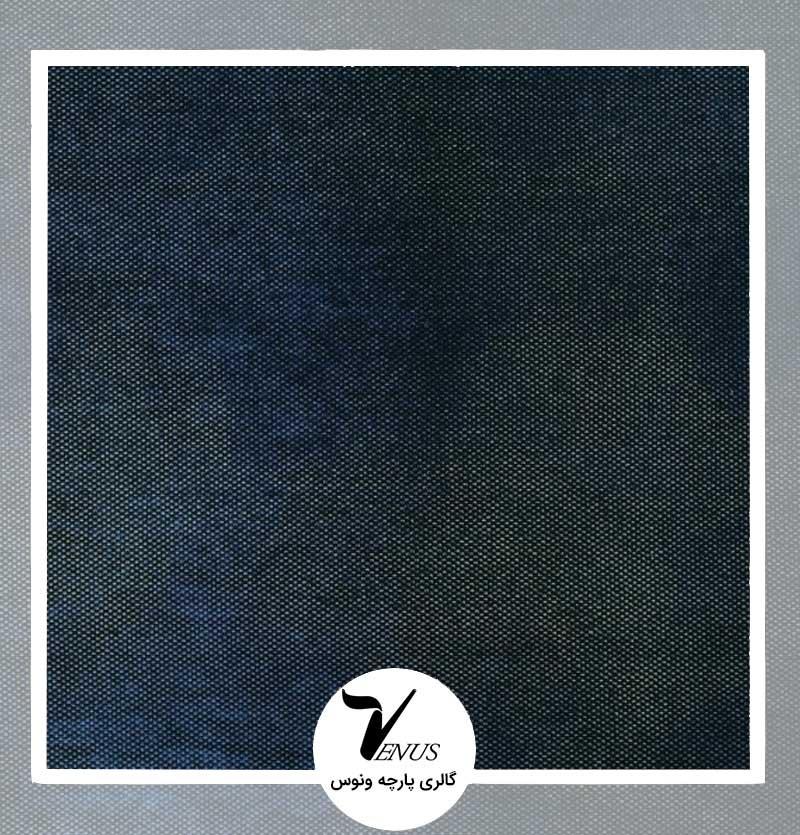 پارچه رومبلی ترک مدل وستا رنگ آبی طرح پتینه