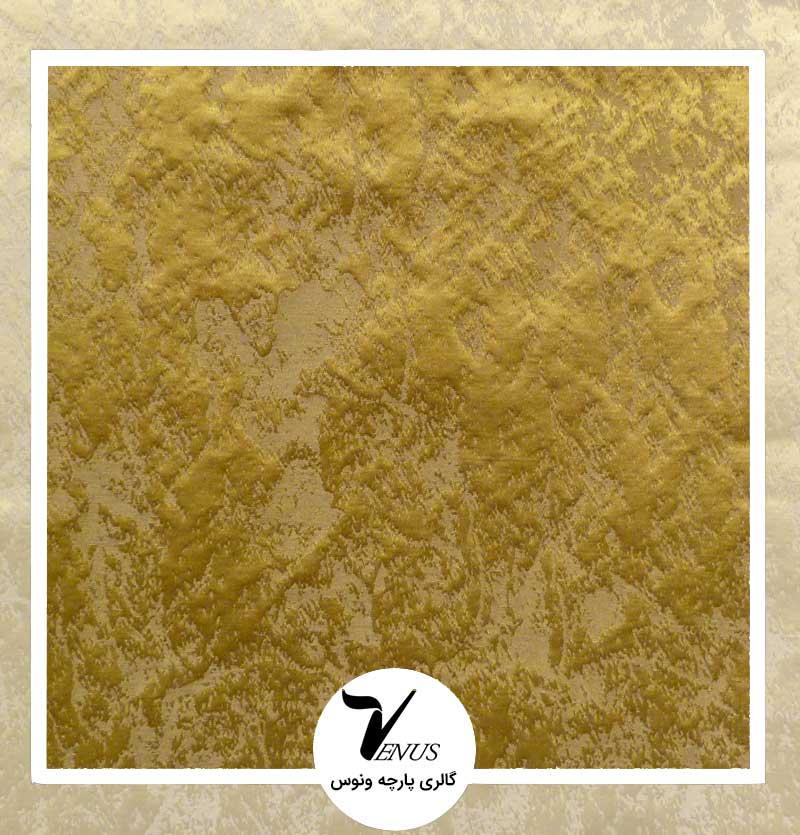 پارچه مبلی ترک اویپک فلورا رنگ طلایی طرح پتینه