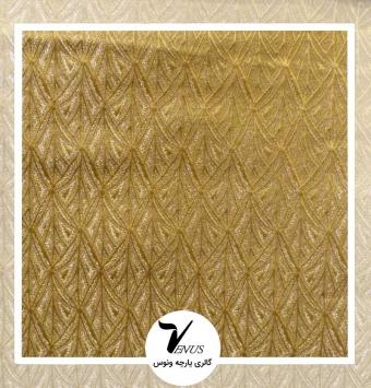 پارچه مبلی ترک اویپک فلورا رنگ طلایی