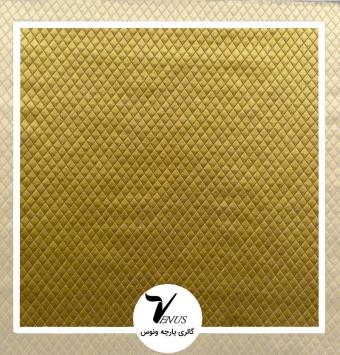 پارچه مبلی طرح کریستال طلایی