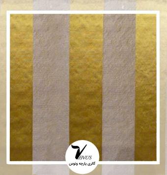 پارچه مبلی ترک اویپک رنگ آبی طلایی ولنتاین طرح 1