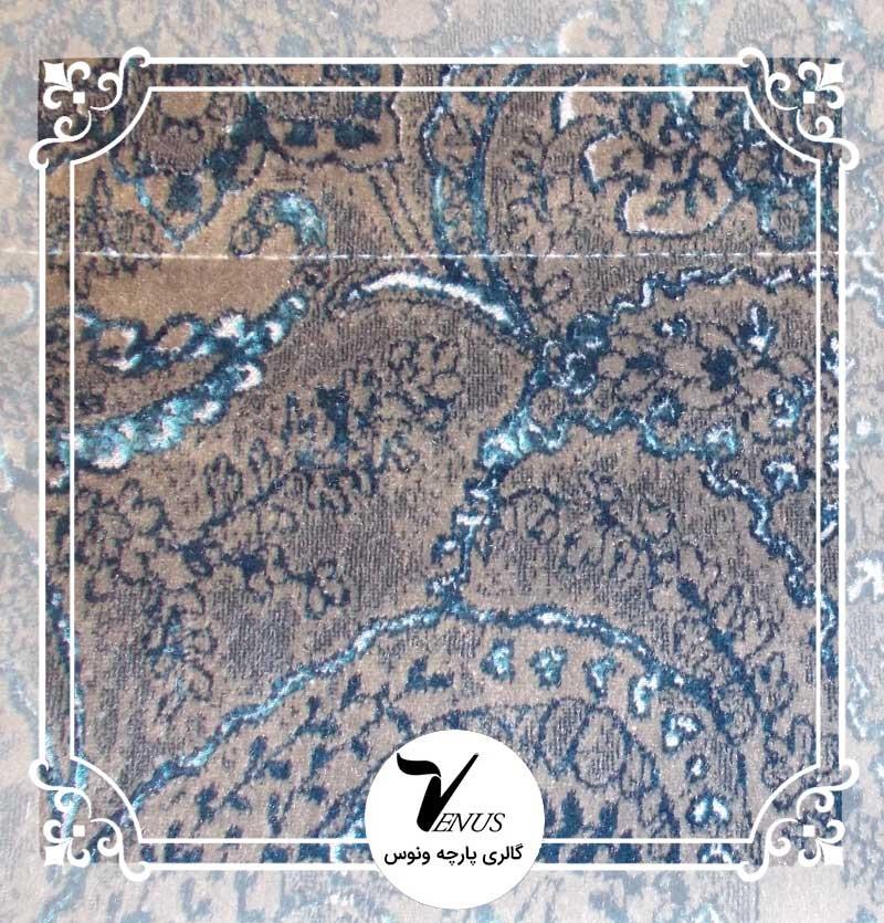 پارچه مبلی ترک | طرح مایا رنگ آبی خاکستری 1