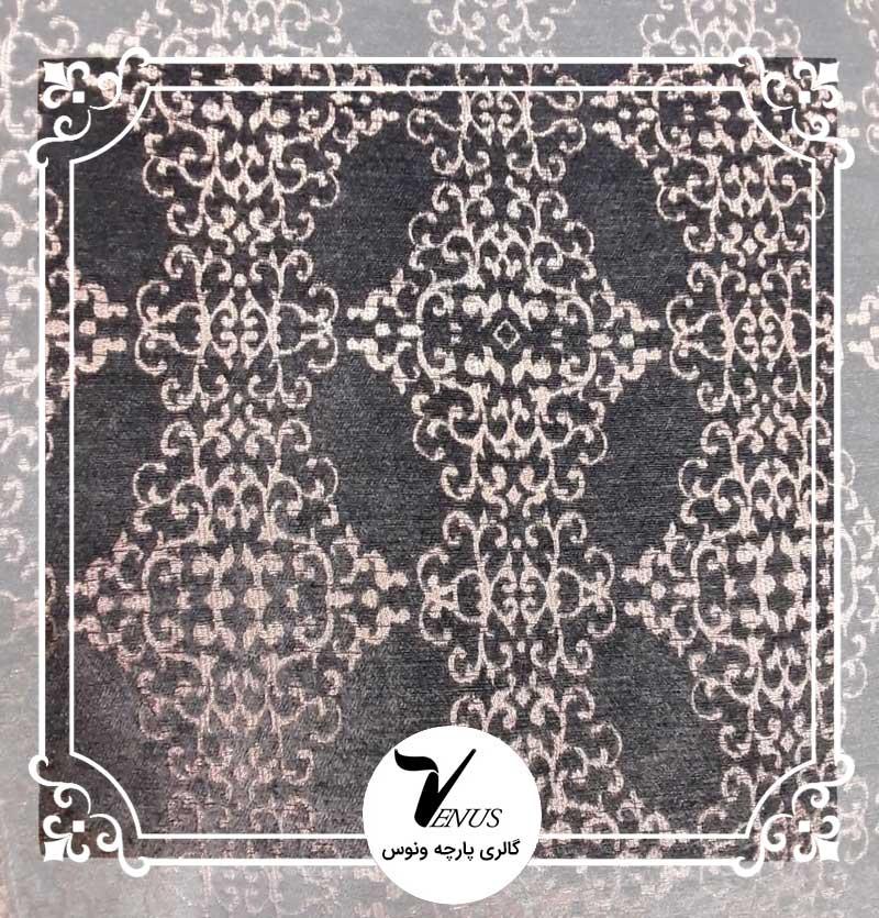 پارچه مبلی شانل تافته | طرح میا رنگ سبز 1